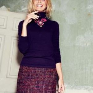 Boden Notre Dame Pencil Skirt in Pink Tweed Boucle